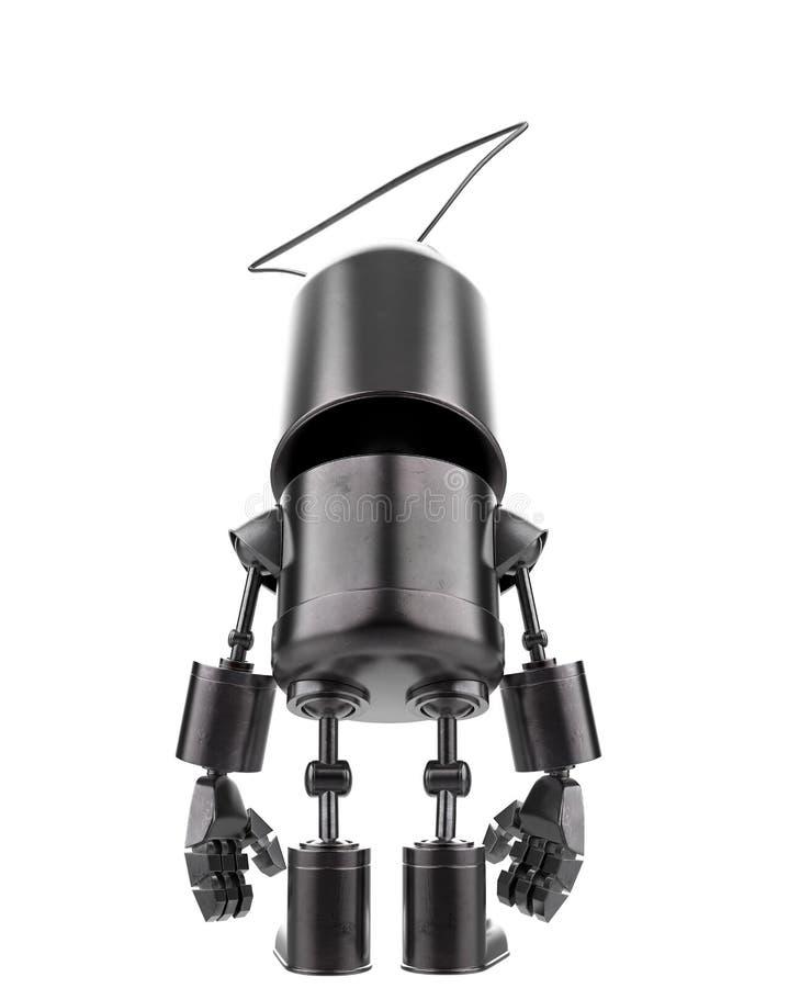Minieisenroboter in einem weißen Hintergrund vektor abbildung