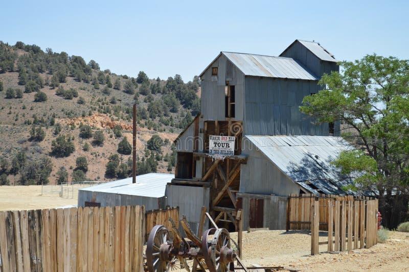 Miniera d'oro anziana Virginia City Nevada immagine stock