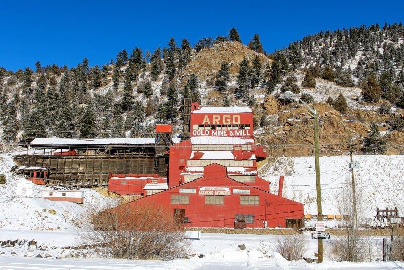 Miniera d'oro di Argo, primavere dell'Idaho, Colorado fotografia stock libera da diritti