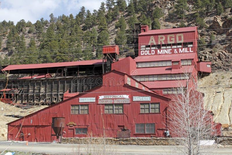 Miniera d'oro e mulino storici di Argo fotografia stock libera da diritti