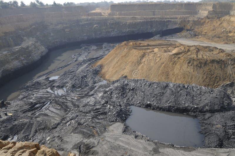 Miniera di carbone. immagine stock