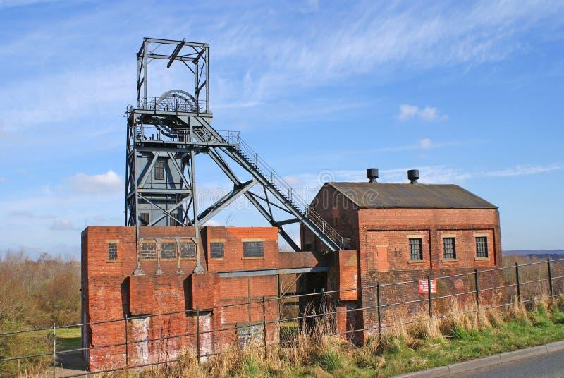 Miniera di carbone abbandonata fotografia stock