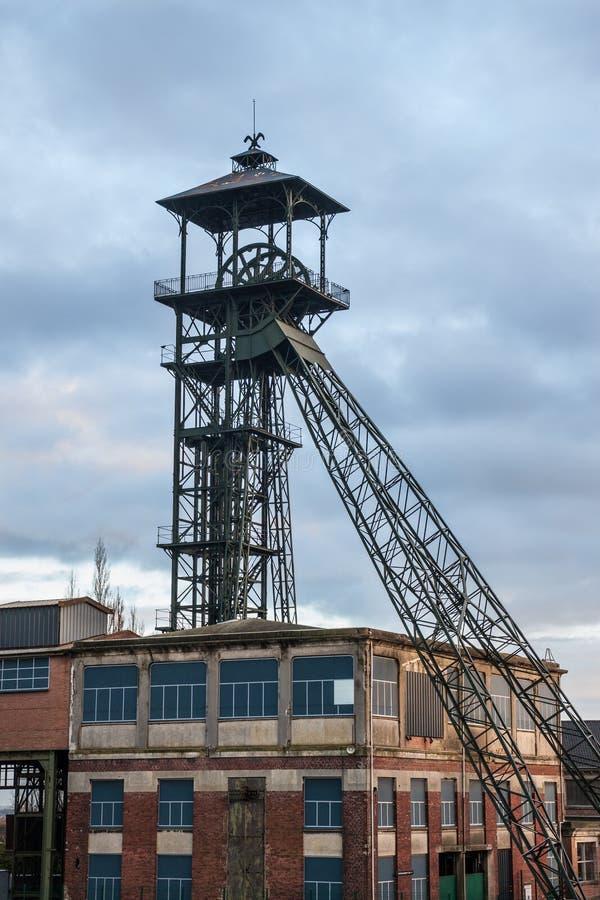 Miniera di carbone all'alba fotografie stock libere da diritti