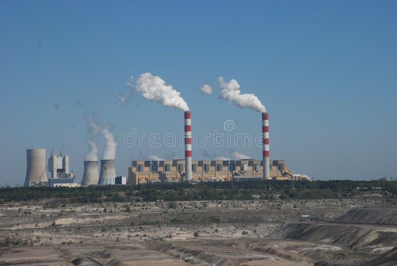 Miniera di carbone in Belchatow Polonia fotografia stock