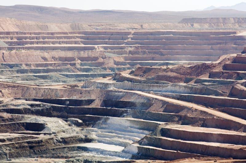 Miniera di a cielo aperto del deserto fotografie stock libere da diritti