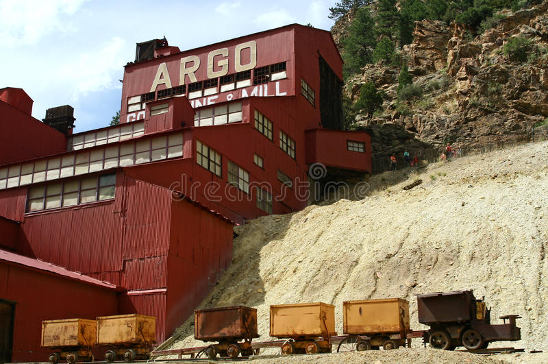 Miniera di oro & laminatoio di Argo immagini stock libere da diritti