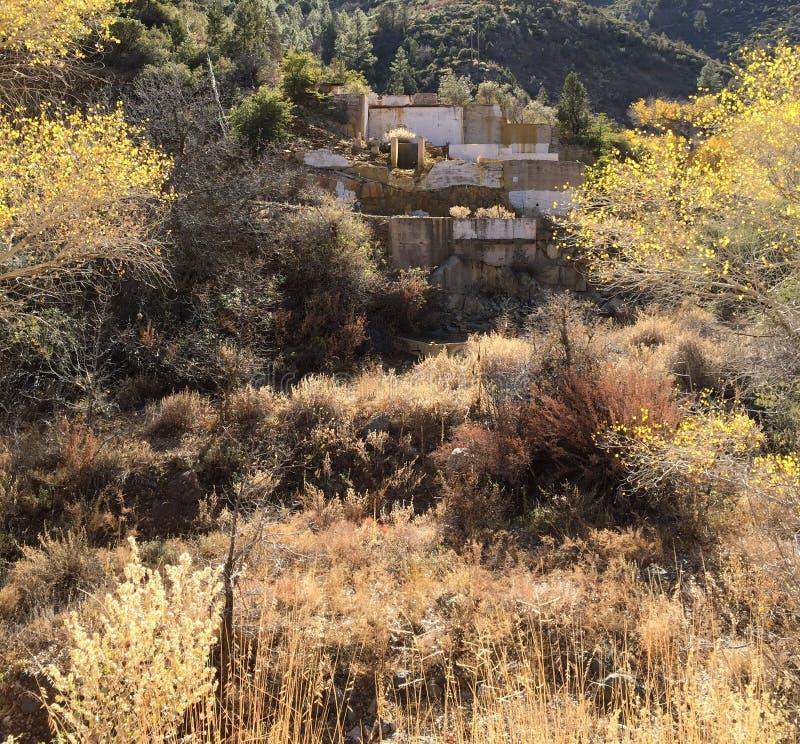 Miniera di rame abbandonata in Jerome AZ fotografia stock