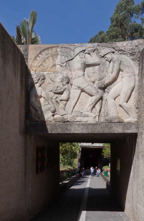 Miniera di sale di Zipaquira Colombia fotografia stock libera da diritti