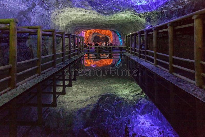 Miniera di sale di Zipaquira Colombia fotografia stock