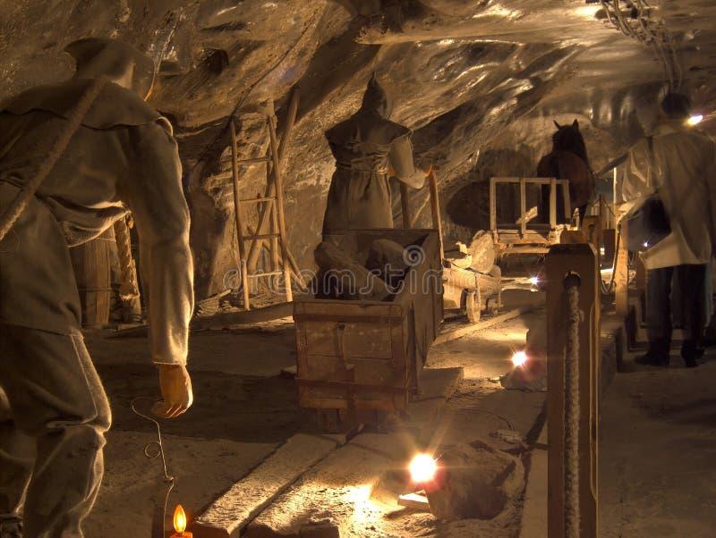 Miniera di sale Wieliczka immagine stock libera da diritti