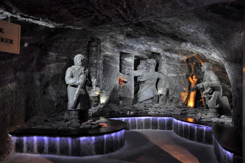 Miniera di sale Wieliczka immagini stock libere da diritti