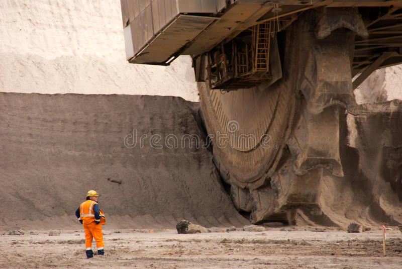 Miniera Open-pit, Hambach, Germania immagini stock