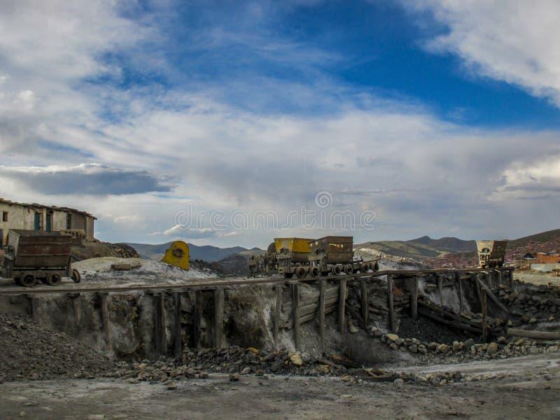 Miniere abbandonate in Potosi, Bolivia fotografia stock libera da diritti