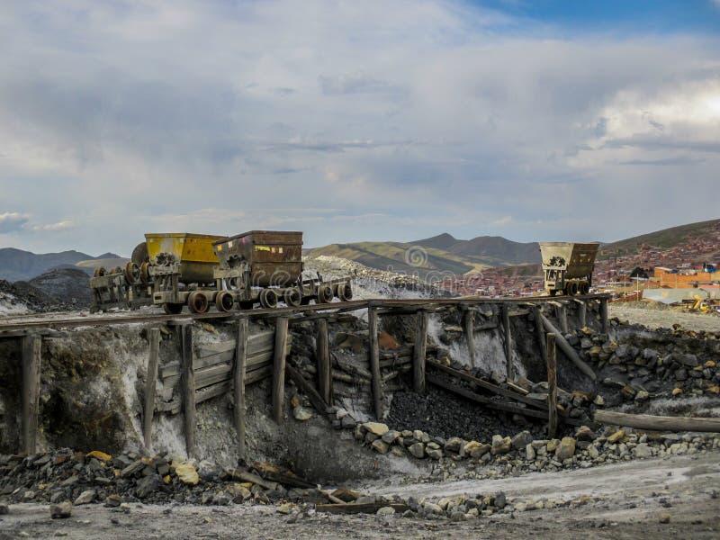 Miniere abbandonate in Potosi, Bolivia immagine stock libera da diritti