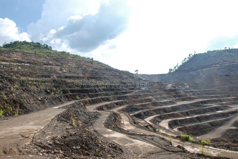 Miniere dello zinco fotografia stock