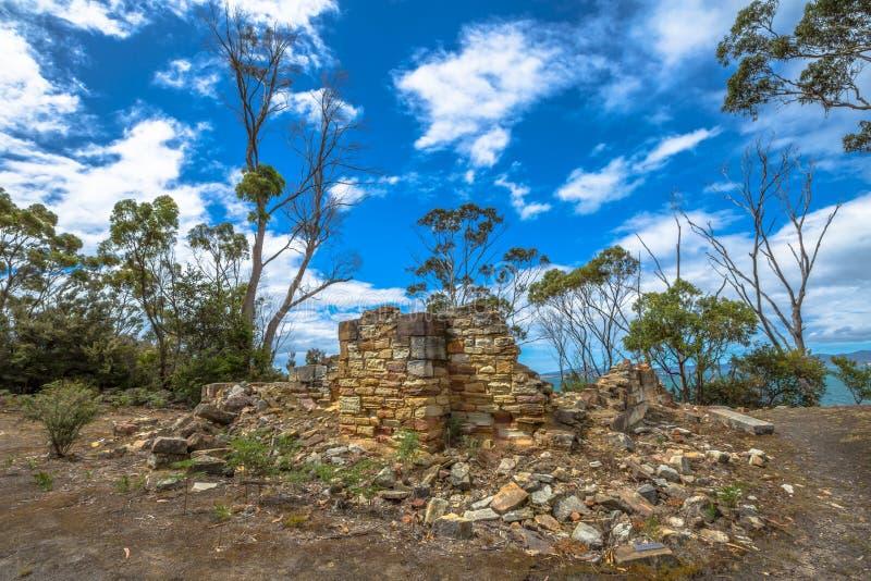 Miniere di carbone in Tasmania immagine stock