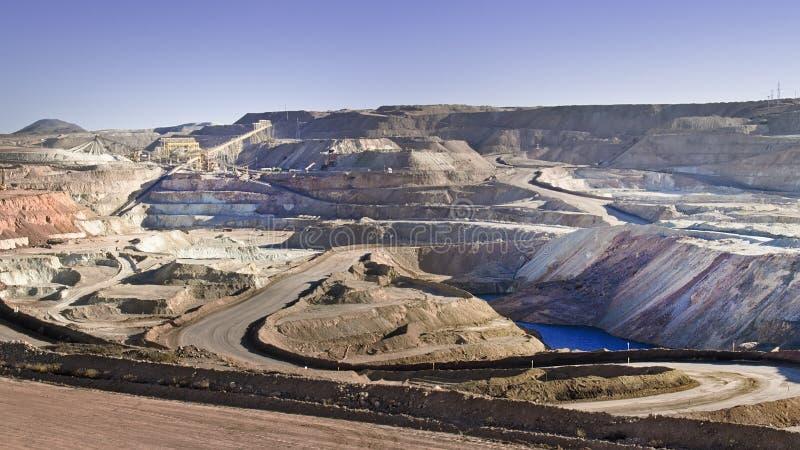 Miniere di rame al deserto fotografia stock