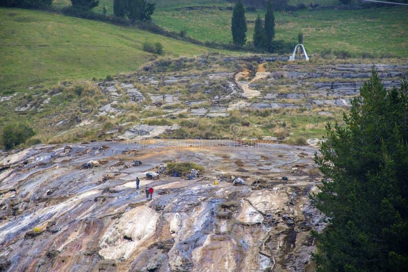Miniere di sale di Guaranda fotografia stock libera da diritti