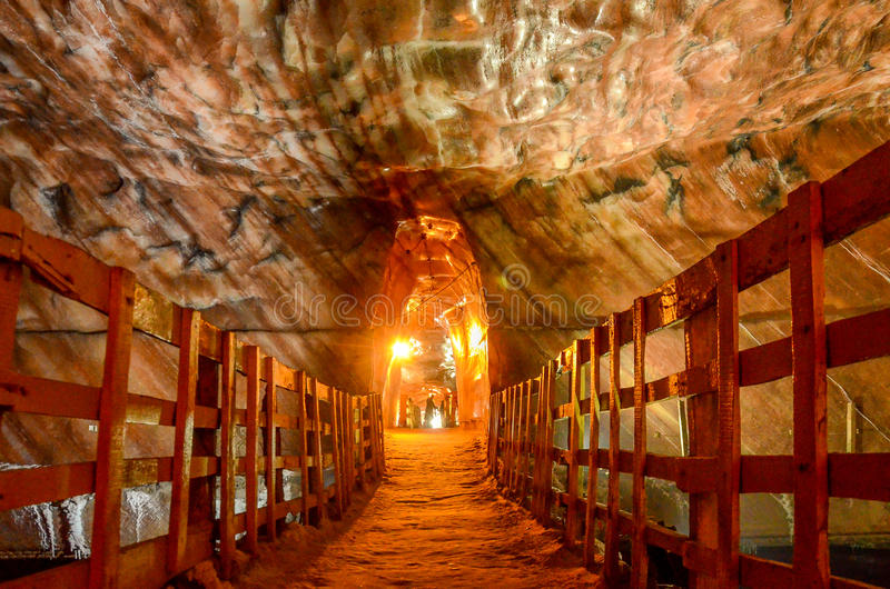 Miniere di sale di Khewra Pakistan immagine stock