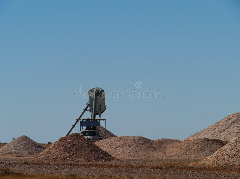 Miniere opaline in Coober Pedy immagini stock