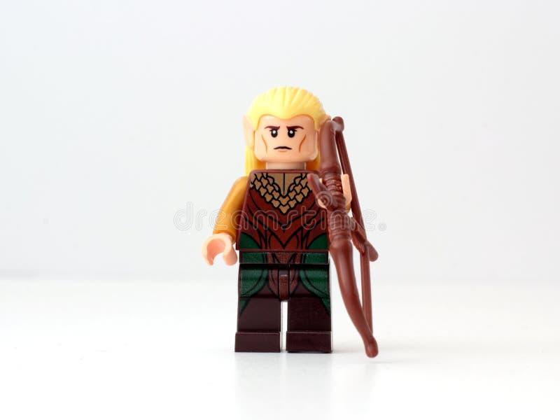 Minifigure de Legolas image stock