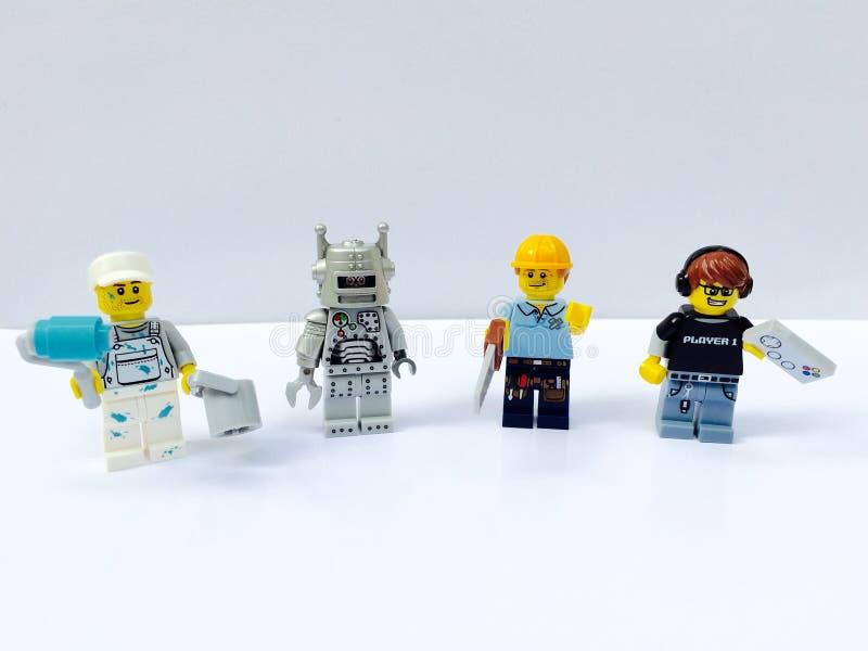 minifigure do lego fotografia de stock