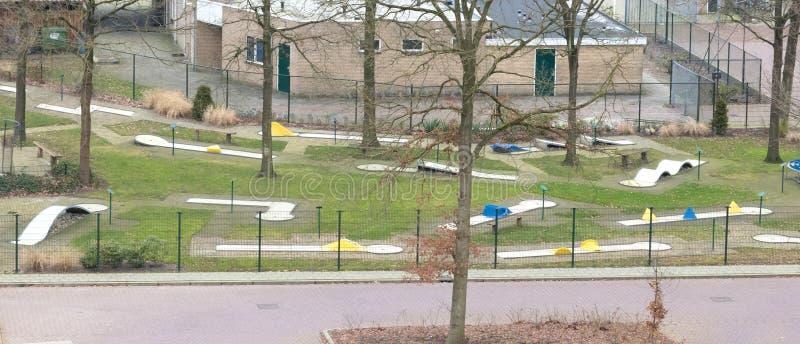 Minigolf parkerar i Nederländerna royaltyfri bild