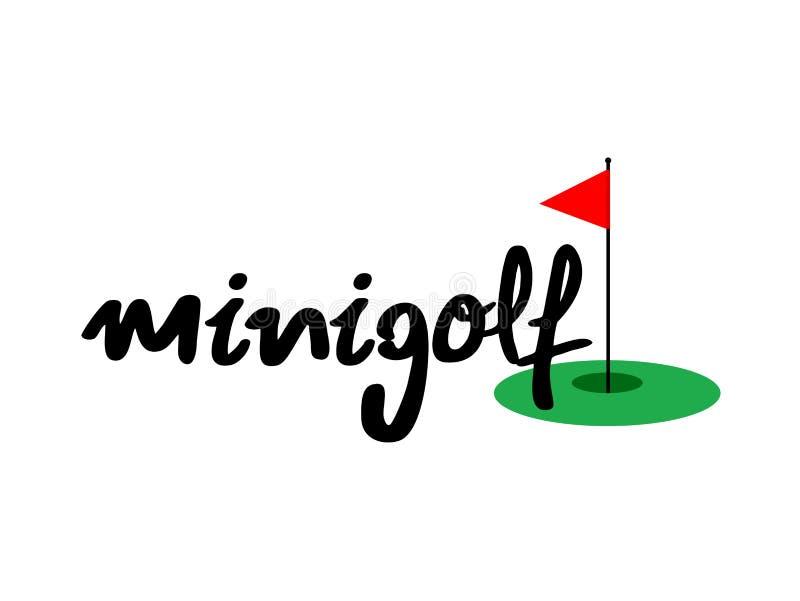 Minigolf symbol stock illustrationer