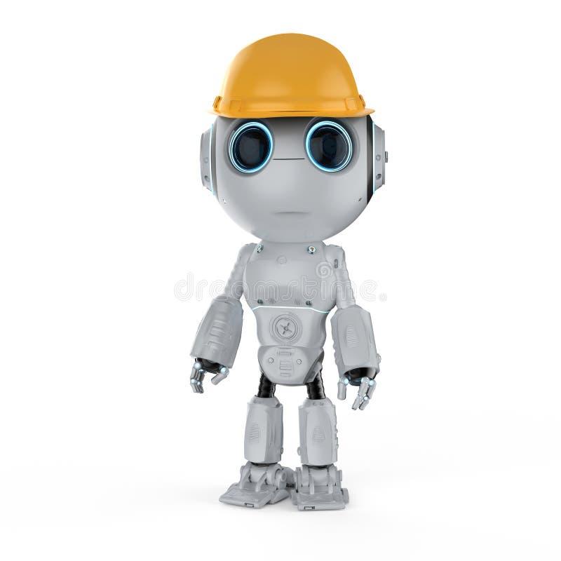 Miniingenieurroboter lizenzfreie abbildung
