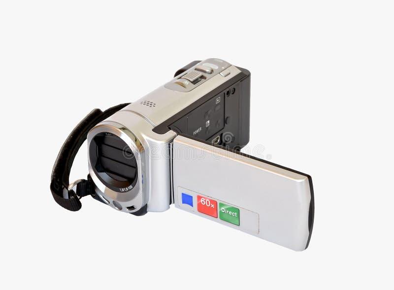Minikamerarecorder auf Weiß lizenzfreie stockfotografie
