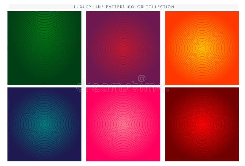 Minimaal dekkingsontwerp Kleurrijke halftone gradi?nten Toekomstige geometrische patronen Eps10 Vector royalty-vrije illustratie