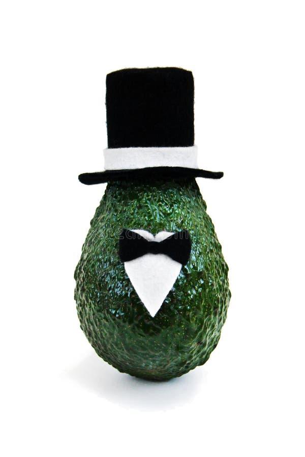 Minimaal origineel avocadoconcept voor de uitnodigingen en de vakantiegroetkaarten van het partijhuwelijk royalty-vrije stock afbeelding