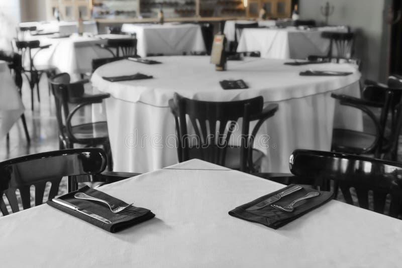 Minimaal Restaurant royalty-vrije stock fotografie