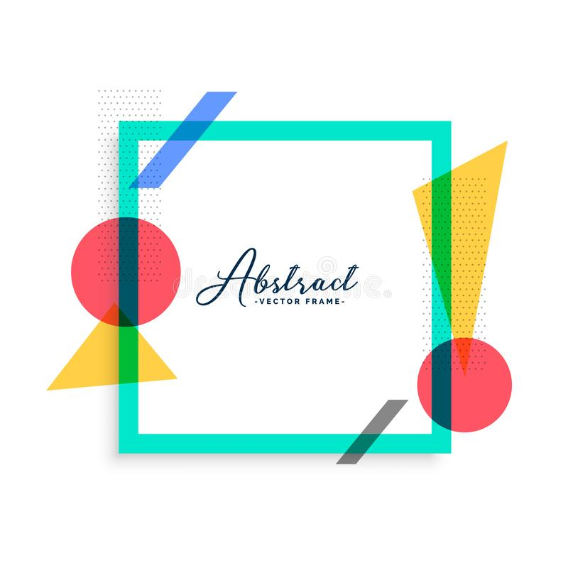 Minimal abstract color frame template vector illustration