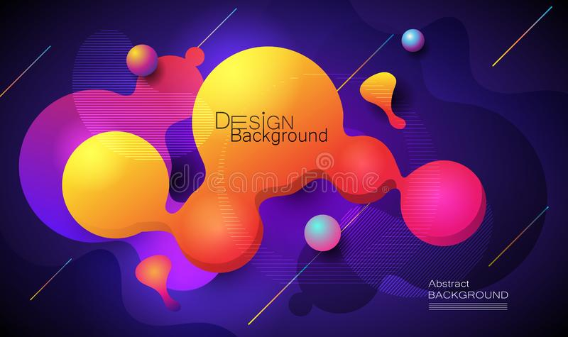 Minimal abstract 3d shape fluid and liquid gradient colorful background for layout, banner, poster, template, flyer. Vector modern stock illustration