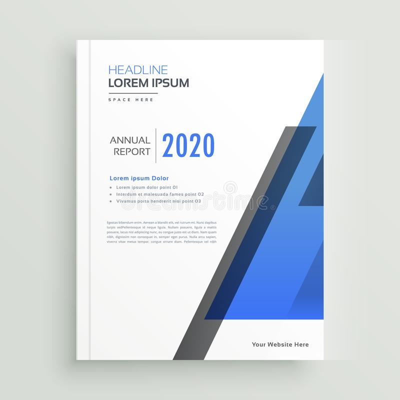 Minimal brochure template design with text space. Illustration royalty free illustration