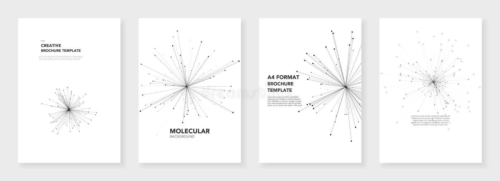 Minimal Brochure Templates Stock Vector Illustration Of