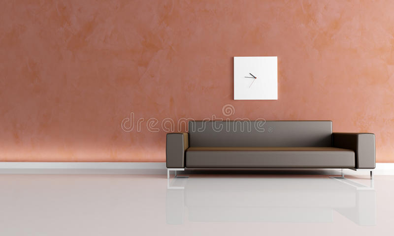 Download Minimal Brown  Living Room Royalty Free Stock Photos - Image: 9986498