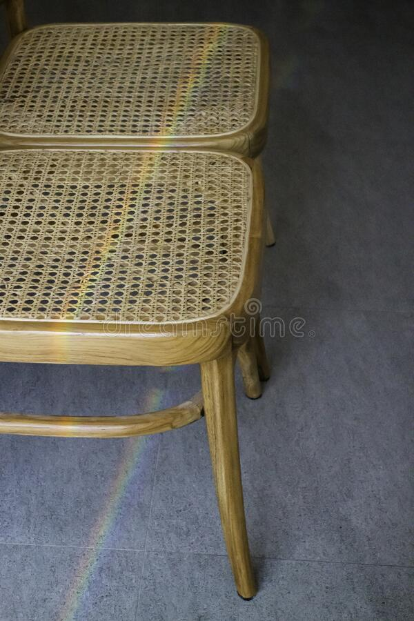 Minimal cafe decorating with simply furniture set. Stock photo royalty free stock image