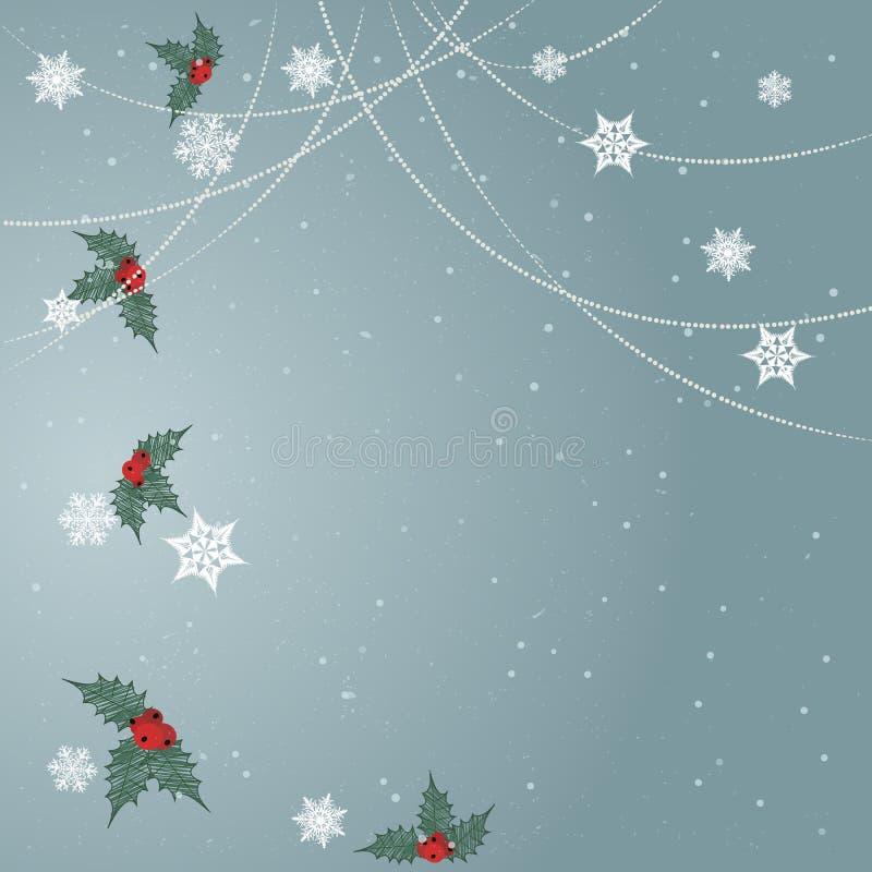 Minimal Christmas background vector illustration