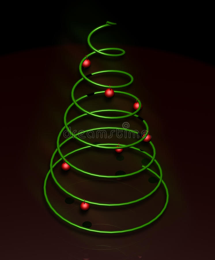 Minimal Christmas Tree stock photography