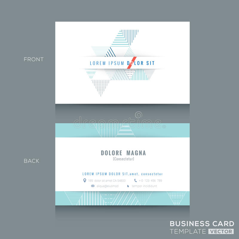 Minimal clean triangle design business card Template vector illustration