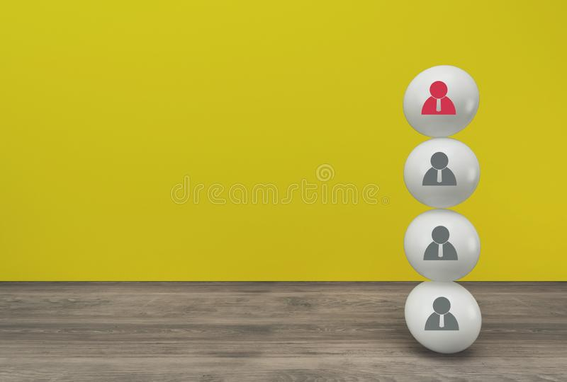 Minimal concept idea about of human resource and talent management and recruitment business concept.  royalty free stock image