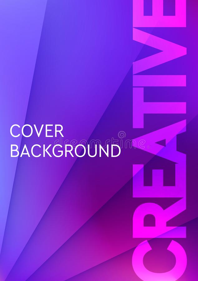Minimal cover design template with gradient texture for minimal dynamic design. Pages for your text composition. royalty free illustration