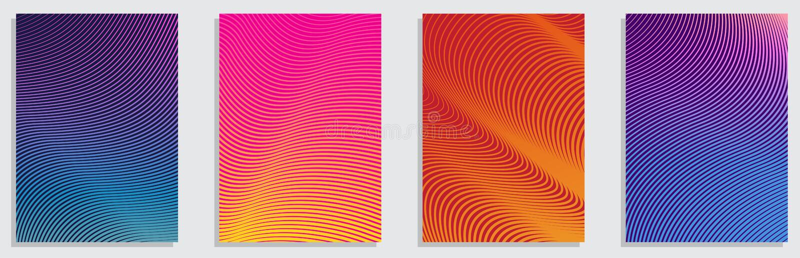 Minimal covers design. Colorful halftone gradients.background modern template design for web. Cool gradients. Future geometric royalty free illustration