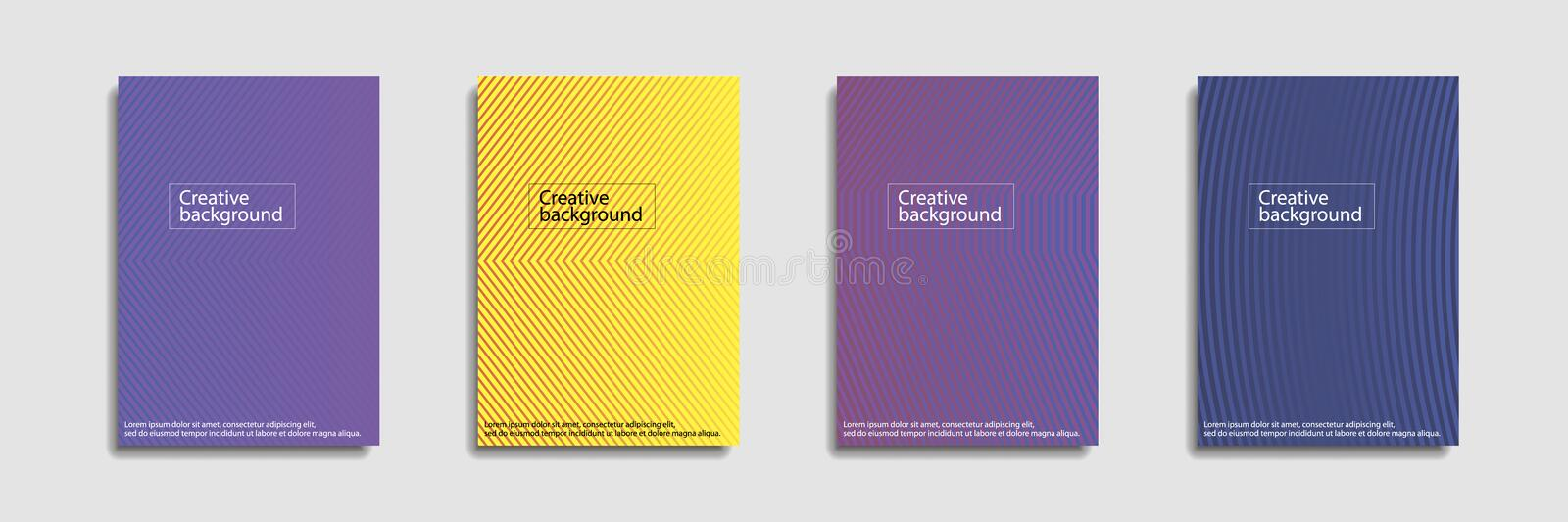 Minimal covers design. Colorful halftone gradients.background modern template design for web. Cool gradients. Future royalty free illustration