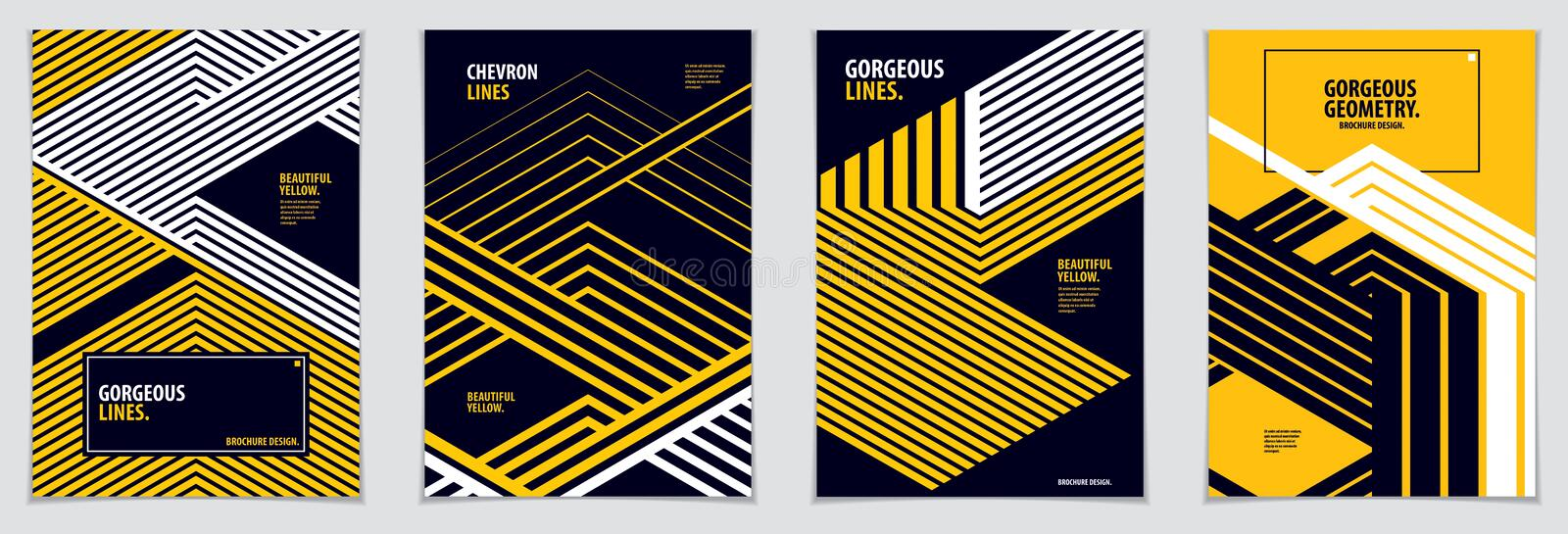 Minimal covers design. Vector set geometric patterns abstract ba royalty free illustration