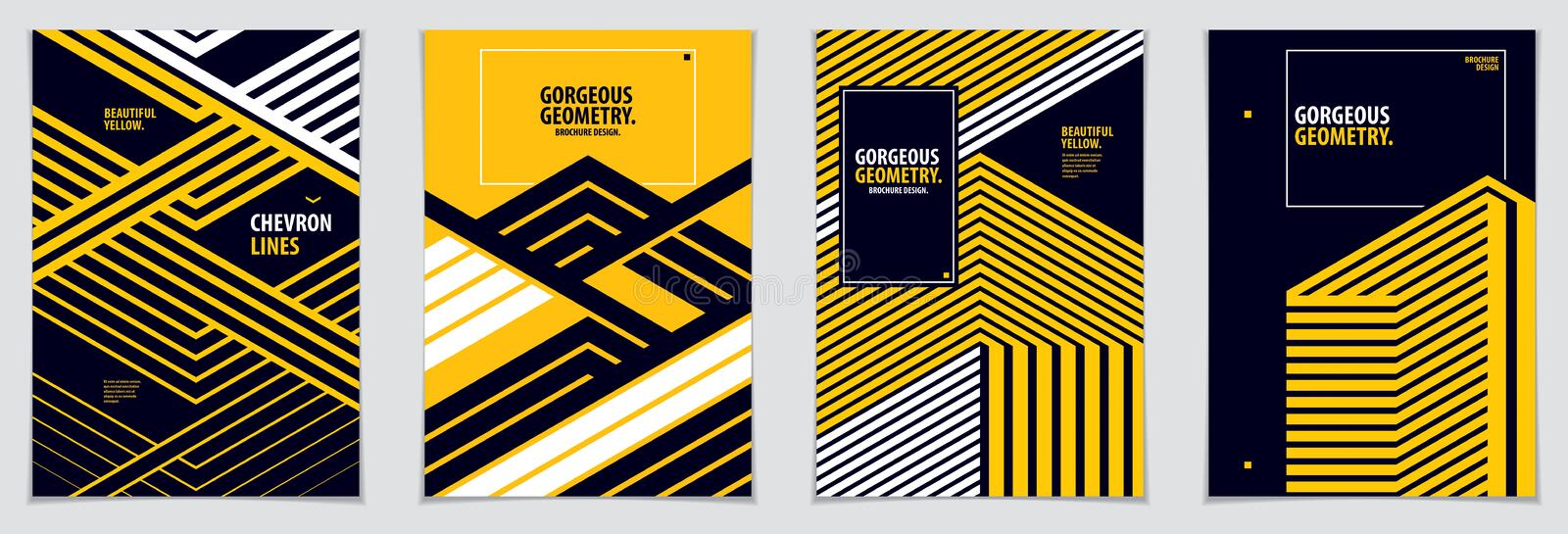 Minimal covers design. Vector set geometric patterns abstract backgrounds collection. Design templates for flyers, booklets, vector illustration