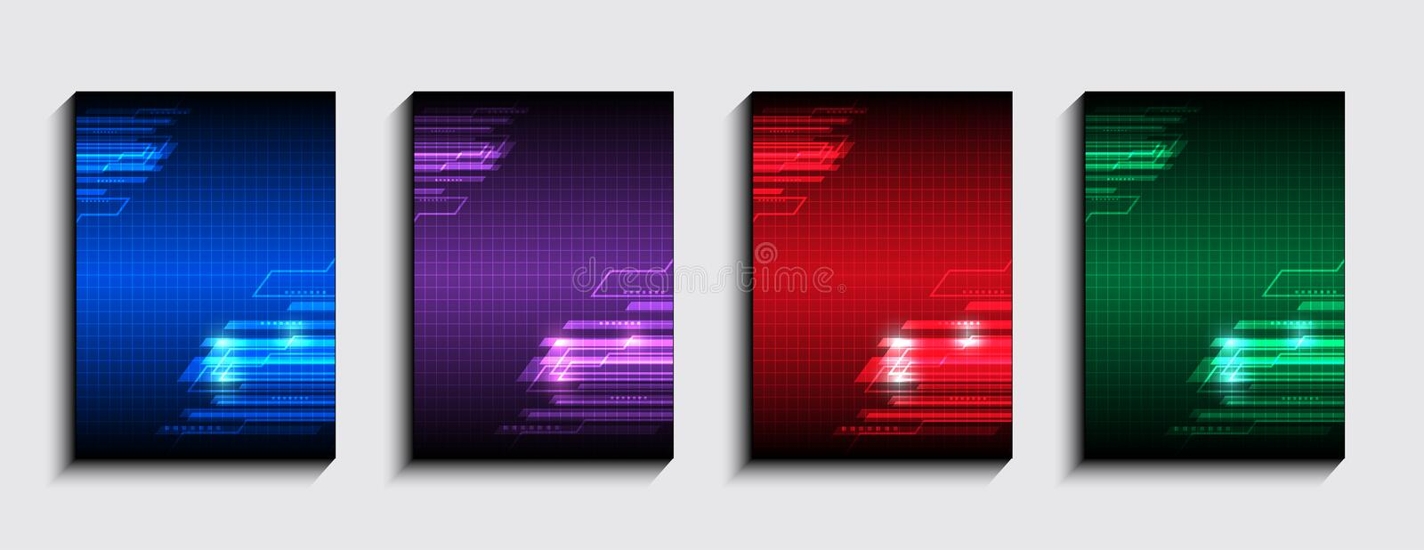 Minimal covers design, Vector technology graphic background. Layout set for covers of books, albums, notebooks, reports, magazines vector illustration