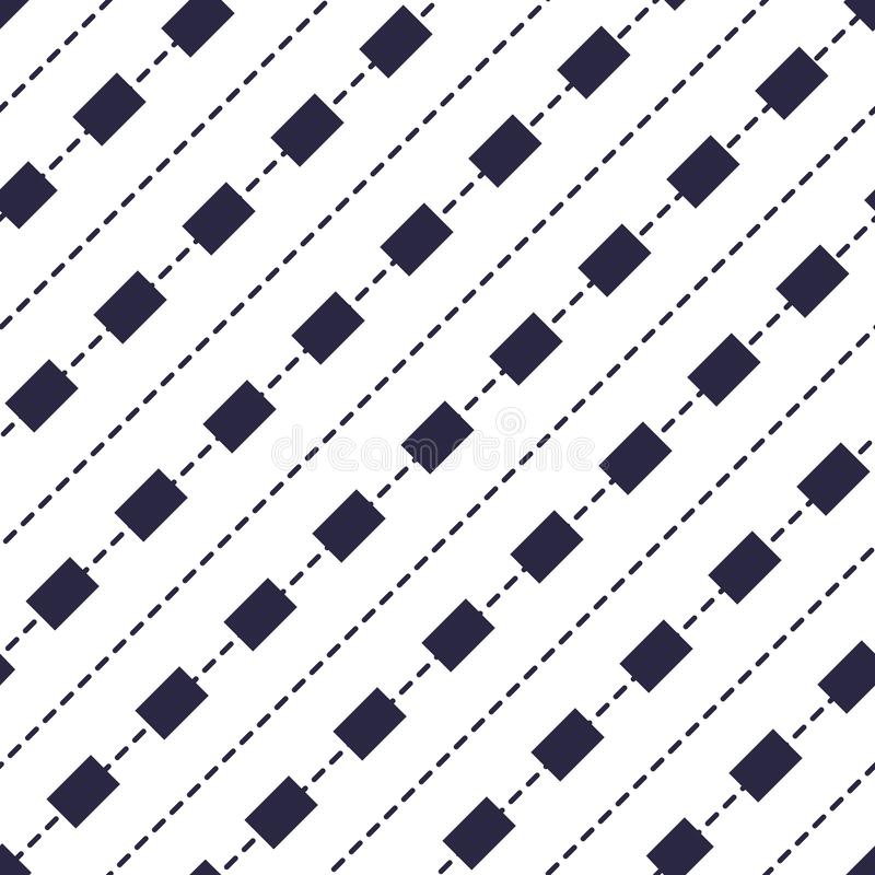 Minimal dashed lines  seamless pattern, abstract background. Simple geometric design. stock illustration
